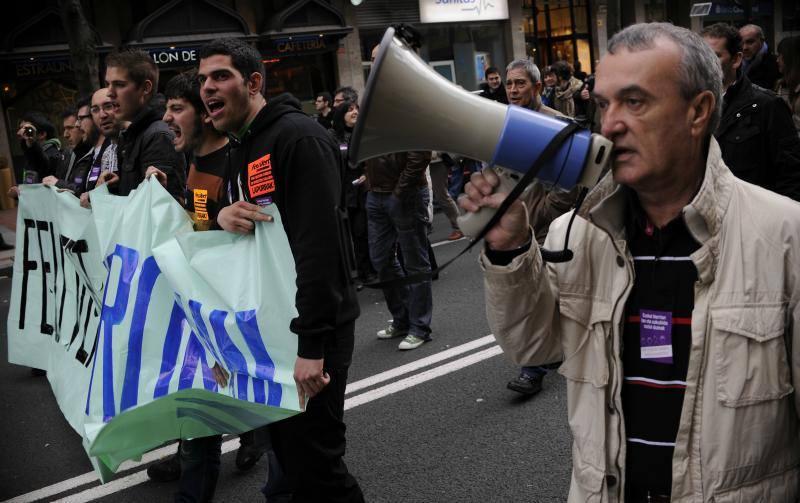 Fotos de la manifestación contra los recortes en Bilbao