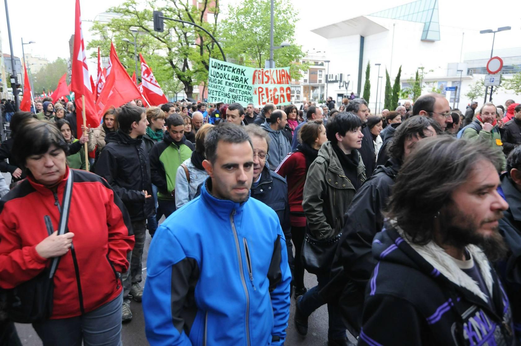 Manifestación del 30-M en Vitoria, octava huelga general de la crisis en Euskadi