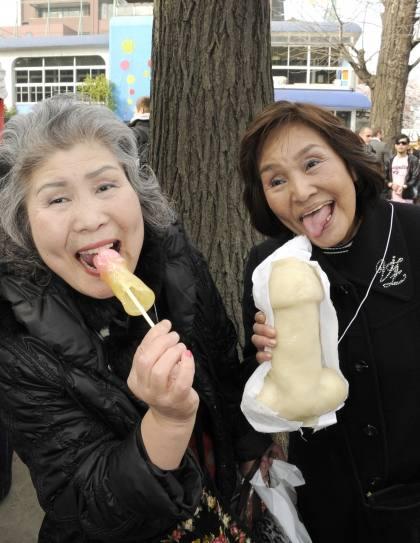 Celebración del Kanamara Matsuri, 'festival del pene', en 2012