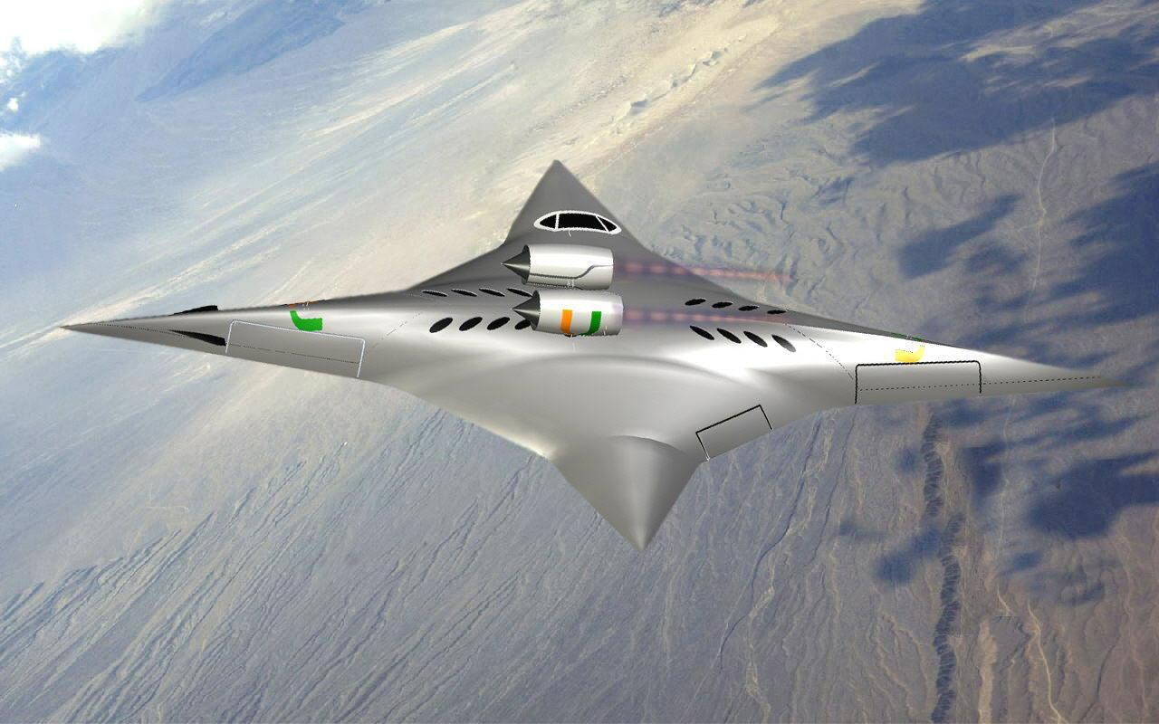 Avión supersónico bidireccional