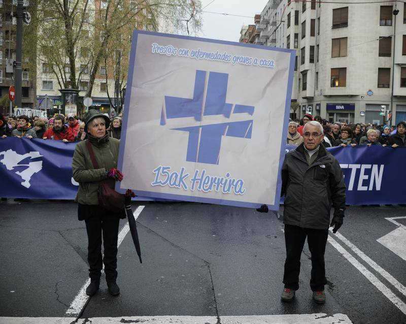 Fotos de la manifestación por 'Thierry' en Bilbao