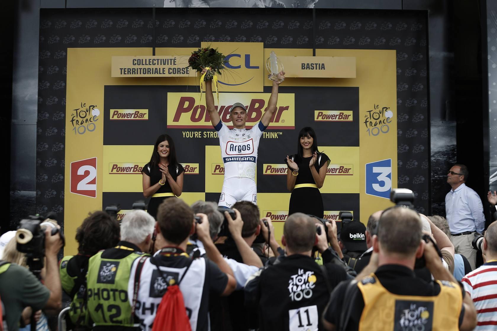 Kittel gana primera etapa del Tour , Contador implicado en una caída masiva