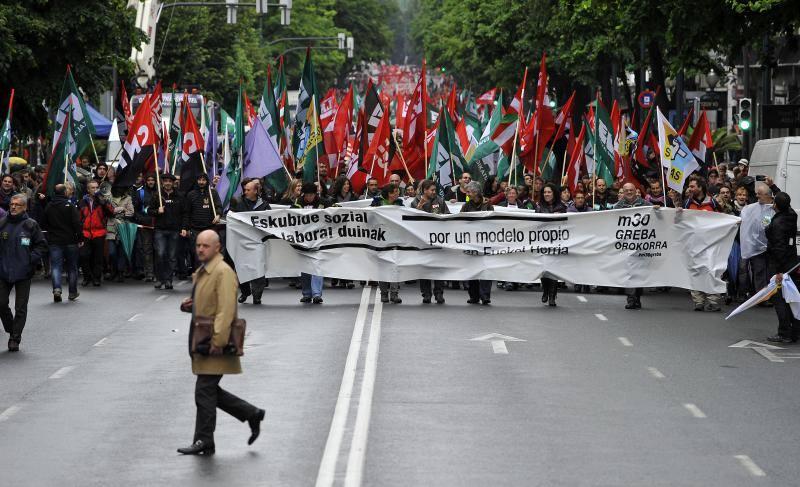 30M, octava huelga general en 5 años en Euskadi