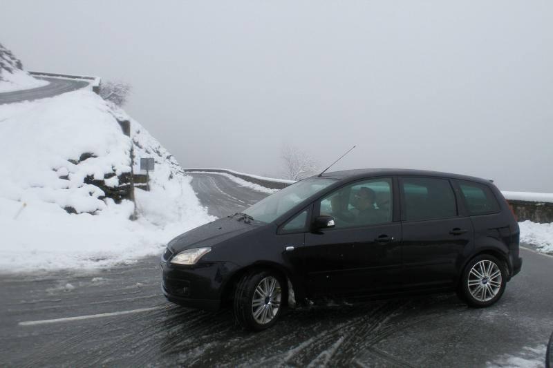 Fotos de la nieve, de vuelta en Euskadi