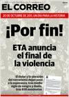 El anuncio de ETA en la prensa